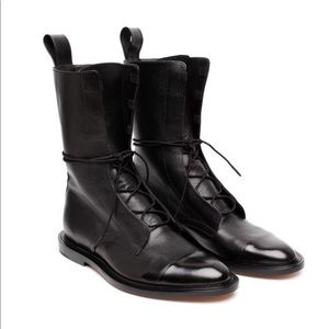 Inch2 Leather baroque boots 35